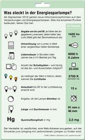 Was ist eine Energiesparlampe - Infografik