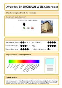 Energieausweis Kartenspiel - Deckblatt